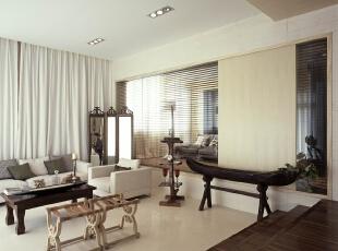 ,120平,现代,两居,10万,客厅,原木色,
