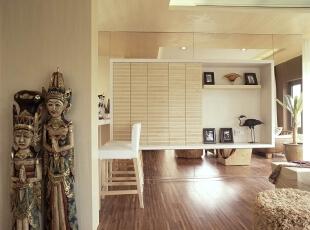 东南亚装饰,120平,现代,两居,休息间,白色,