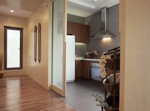 ,120平,110万,现代,两居,厨房,原木色,