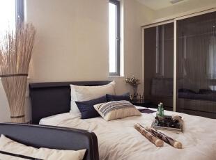 ,120平,110万,现代,两居,卧室,黑白,