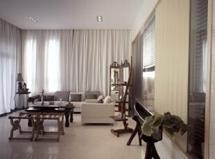 ,120平,110万,现代,两居,客厅,白色,