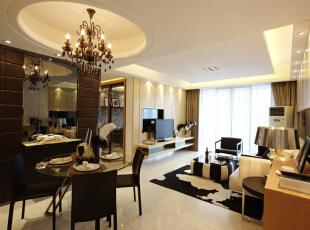 安居东城-现代两居-安居东城100平米现代简约带有后奢华风格的装修效果图哦