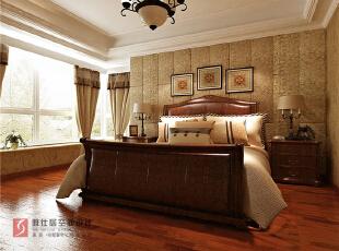 景枫法兰谷三居239平新古典风格,239平,15万,新古典,跃层,卧室,白色,