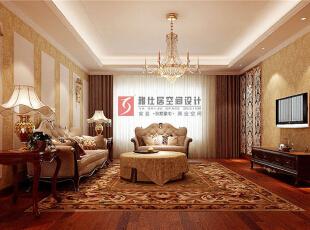 景枫法兰谷三居239平新古典风格,239平,15万,新古典,跃层,客厅,黄白,