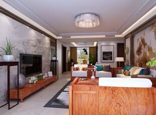 ,220平,20万,中式,四居,客厅,现代,简约,原木色,
