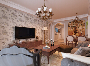 ,89平,3万,现代,两居,客厅,原木色,黄色,
