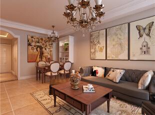 ,89平,3万,现代,两居,客厅,原木色,春色,