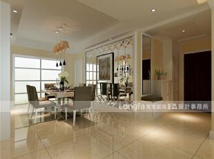 餐厅:宽度绰绰有余,为了增加次卧室的储物空间,墙体外移,改造出一面墙的壁柜。,150平,65万,现代,三居,黑白,黄色,简约,餐厅,