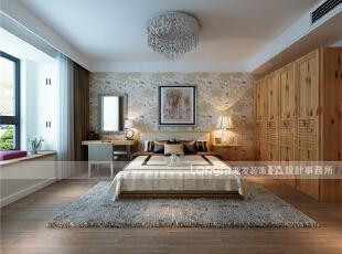 主卧室:面积较大,但因为主卫门正对床,衣柜不好摆放,因此,卫生间门更改位置,改到门口方向。,150平,65万,现代,三居,卧室,简约,原木色,黑白,黄色,