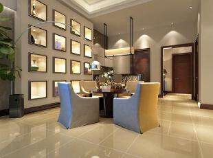 地下酒吧区也以最简单的流线和颜色表现中式风格。摒弃了过于古老的装饰,简化了线条。时间愈久愈散发出迷人的东方魅力。  简单的设计,经典的造型,深邃的文化内涵,就是这个别墅装修案例中最优雅的特点。,133平,60万,中式,别墅,客厅,白色,
