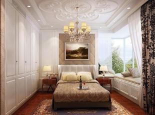 ,95平,14万,美式,三居,卧室,白色,