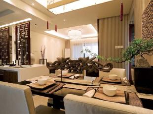 ,120平,14万,中式,三居,餐厅,黄色,