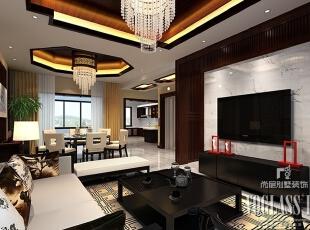 ,285平,35万,中式,别墅,客厅,黑白,