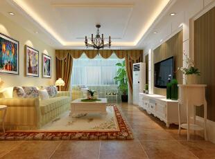 造型哑口的设计让玄关和过厅完美统一,实用和时尚并存。亮点:造型哑口处的墙面镂空水泡造型,和右边水族遥相呼应。,92平,7万,田园,两居,