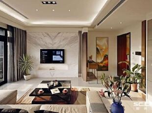 ,131平,15万,现代,三居,客厅,白色,