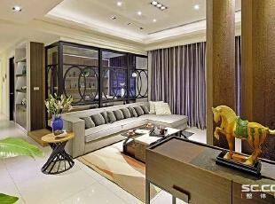 ,131平,15万,现代,三居,客厅,原木色,