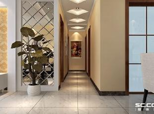 这是一个低调奢华的空间,繁花似锦的壁纸,洁白的装饰线及敦厚精美的床,都带着欧式风格的端庄优雅。,127平,9万,现代,三居,
