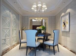 ,360平,50万,现代,别墅,餐厅,白蓝,