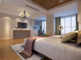 ,360平,50万,现代,别墅,卧室,白色,