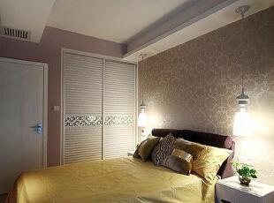 ,110平,13万,简约,两居,卧室,棕色,白色,