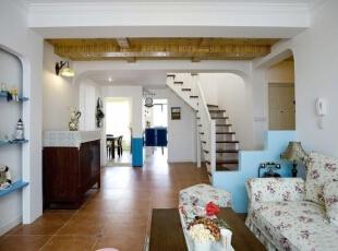 ,195平,28万,地中海,别墅,客厅,白色,