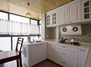,195平,28万,地中海,别墅,厨房,白色,