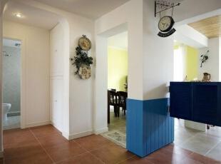 ,195平,28万,地中海,别墅,客厅,白蓝,