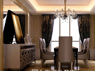 雅居乐145平四室两厅简欧风格装修效果图--餐厅,145平,14万,欧式,四居,餐厅,黄白,