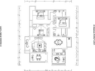 雅居乐145平四室两厅装修案例户型图,145平,14万,欧式,四居,