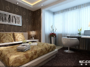 卧室设计: 现代家居的好处就是不用局限于单一的风格或材质,我们大可以将石材的庄严厚重、玻璃的清透靓丽、木制的质朴清新、不锈钢的冷酷现代通通融入到室内环境中,只要你有将他们处理得当的信心。,72平,6万,现代,一居,