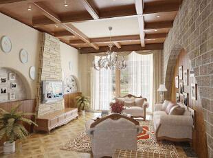 ,86平,5万,美式,两居,客厅,白色,
