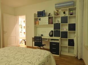 ,128平,9万,现代,三居,卧室,白色,