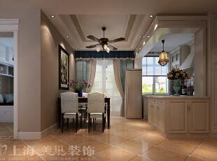 天骄华庭89平方三室两厅简约美式风格装修案例——餐厅,89平,美式,三居,原木色,