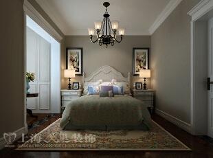 天骄华庭89平方三室两厅简约美式风格装修案例——卧室,美式,三居,卧室,天骄华庭,白色,