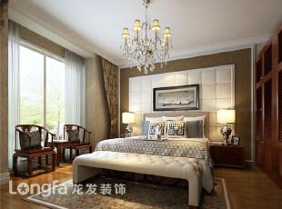 ,170平,9万,混搭,三居,卧室,欧式,美式,红色,白色,绿色,