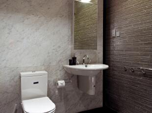 北京高端公寓设计——卫生间 是具有便溺和清洗双重功能的特定环境,实用性强,利用率高,应该合理巧妙的  利用每一寸面积。,128平,35万,简约,三居,卫生间,黑白,黄色,