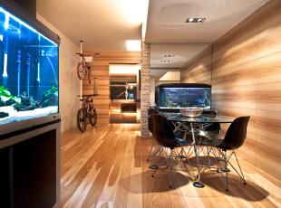 北京高端公寓设计——餐厅 餐厅是家居生活的心脏,不仅要美观,更重要的实用性,整体性。,128平,35万,简约,三居,餐厅,原木色,黑白,绿色,黄色,
