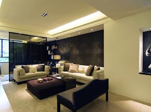 ,220平,45万,别墅,现代,客厅,黑白,