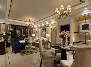 ,130平,90万,现代,公寓,餐厅,黄白,