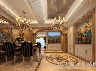 郑州林溪湾复式别墅简欧风格243平入户效果图方案,243平,16万,欧式,复式,玄关,