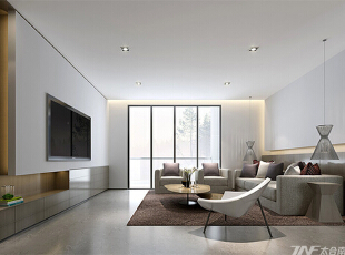 ,200平,15万,现代,四居,客厅,白色,
