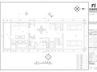 地下二层地下二层将原有的大面积设备间改造为影音室,娱乐区,同时设备间移至地下一层,减少面积的浪费。,345平,85万,简约,别墅,