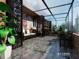 西安城市人家装饰公司│国色天香234㎡新中式风格现代都市中的儒雅古韵情调,234平,12万,中式,复式,阳台,黑色,棕色,