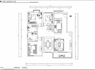 西安城市人家装饰公司│国色天香234㎡新中式风格现代都市中的儒雅古韵情调,234平,12万,中式,复式,