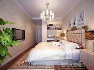 西安城市人家装饰公司│丽苑小区110㎡简欧风格——暖暖点缀意想不到的美,110平,4万,欧式,三居,卧室,暖色,