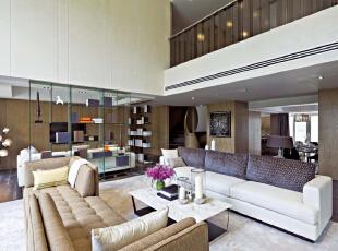 ,240平,30万,新古典,别墅,客厅,白色,