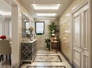 西安城市人家装饰公司│天朗御湖142㎡混搭风格打造属于自己的维多利亚,142平,5万,混搭,三居,过道,白色,
