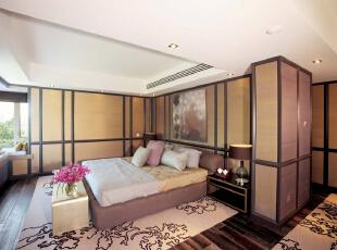 ,240平,30万,新古典,别墅,卧室,黄白,