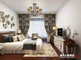 西安城市人家装饰公司│天朗御湖142㎡混搭风格打造属于自己的维多利亚,142平,5万,混搭,三居,卧室,白色,