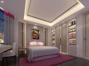 ,720平,108万,别墅,现代,卧室,白色,粉红色,